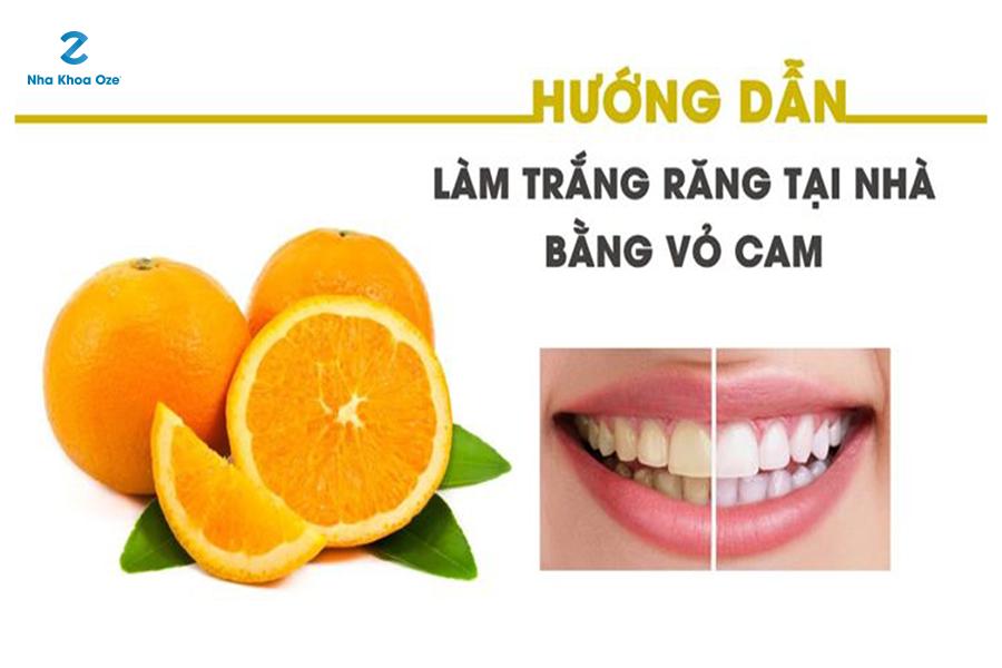 Vỏ cam cũng có thể làm răng trắng sáng