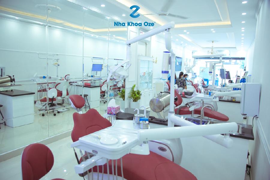Hệ thống phòng khám và cơ sở vật chất tại Nha khoa Oze