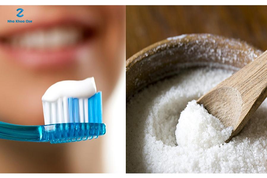 Cách làm trắng răng bằng muối và kem đánh răng