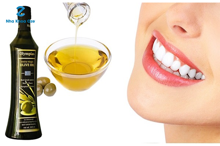 Dầu ô liu cũng giúp làm sạch cao răng rất hiệu quả