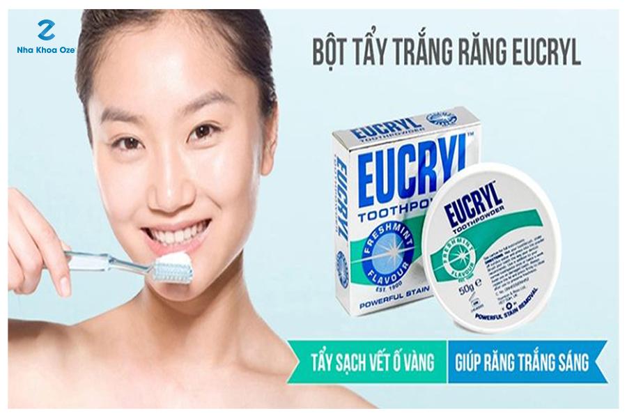 Bột trắng răng Eucryl - Sản phẩm bổ biến nhất